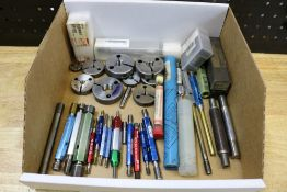 Mixed Box of Thread Gages and Thread Ring Gages