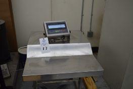 "5000 lb floor scale, Prime scales model PS-JN 202 SS-C, Metal operating control desk, 48"" square"