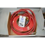 """(1) 1/4"""" 25' welding gas line and (1) 1/4"""" air hose"""