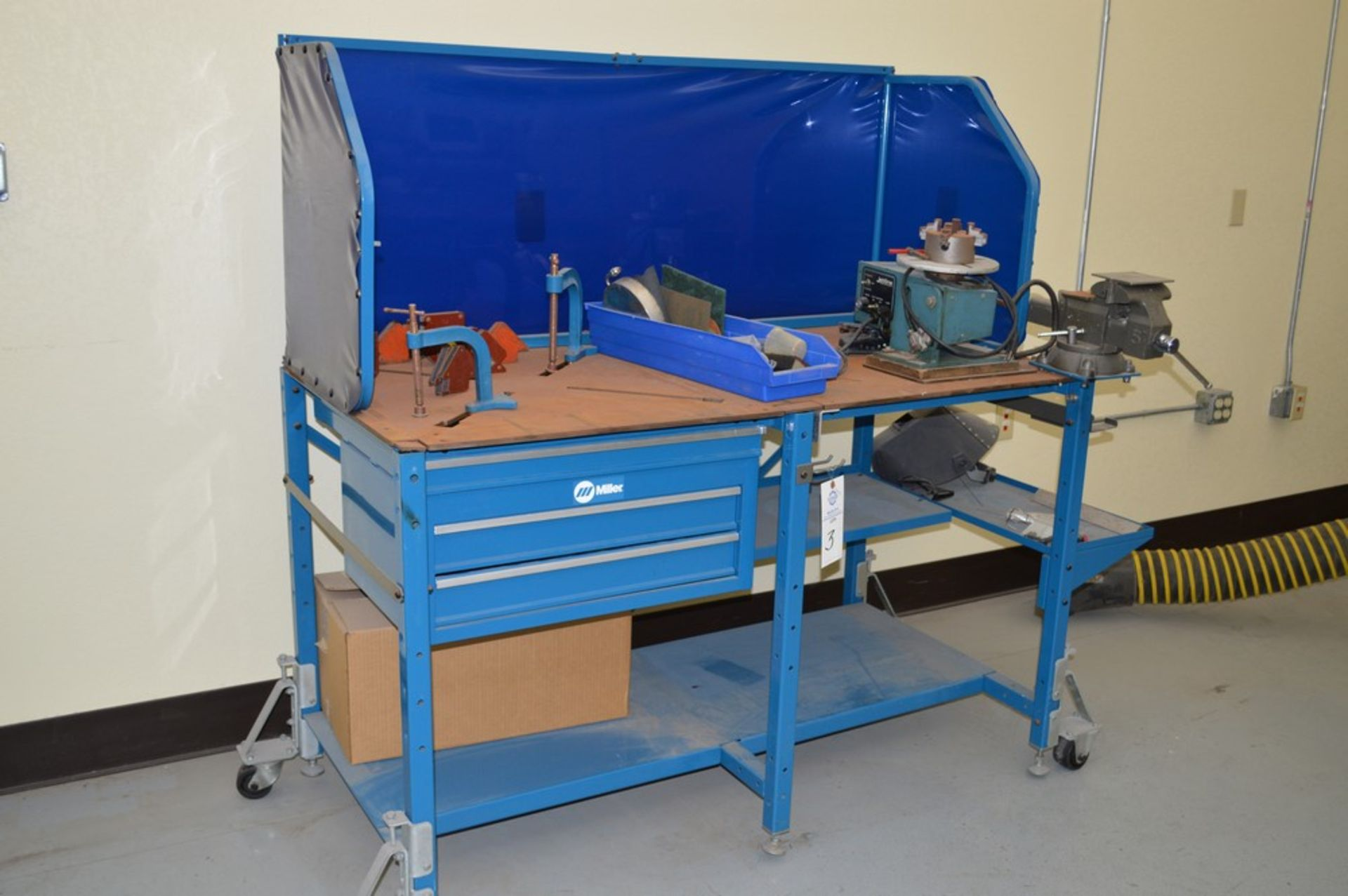 """Miller Welding Table, 3 Drawers, Jetline System not included in sale, Magnetic Hold Downs, Manual 5"""""""