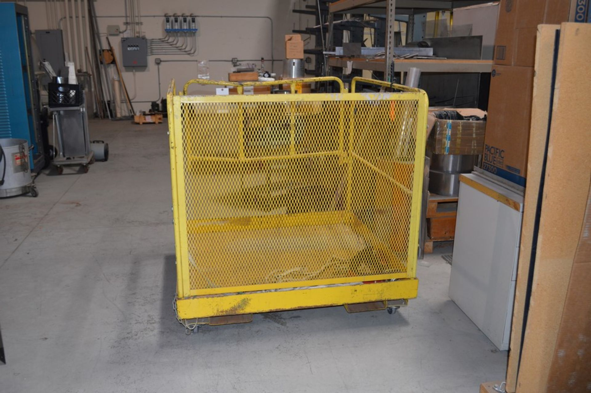 """Forklift Man Lift Attachment 48"""" x 48"""" x 42"""" Tall - Image 3 of 3"""