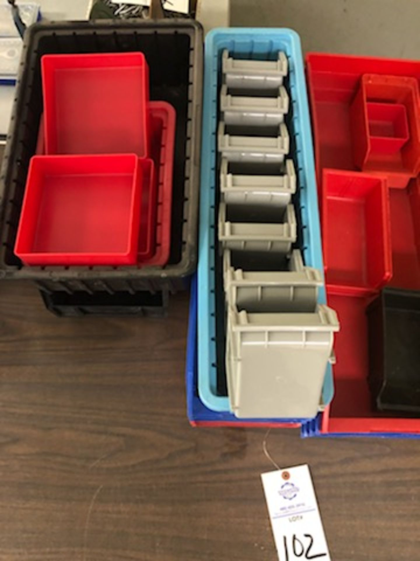 Assorted hard plastic parts bins in various sizes - Image 2 of 4
