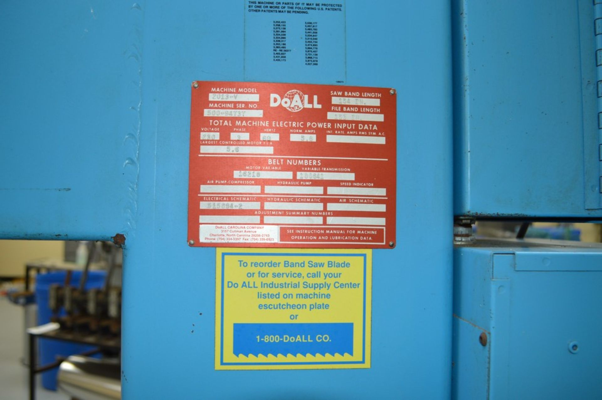 """Do-All, 2013-V, 154"""" Band, with extra bands and DBW-15 welder - Image 5 of 7"""