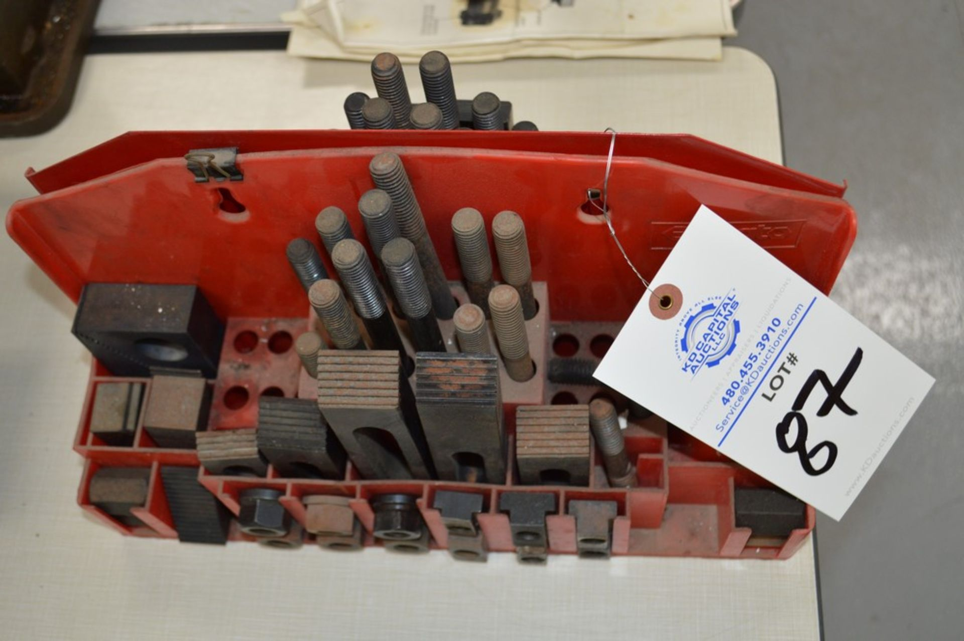 (2) partial mill setup kits with red metal holders - Image 3 of 3