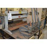 1995 Combined Manual Shear and Break black metal stand, metal rolls, (4 Each) Henrich/Pexto Model-