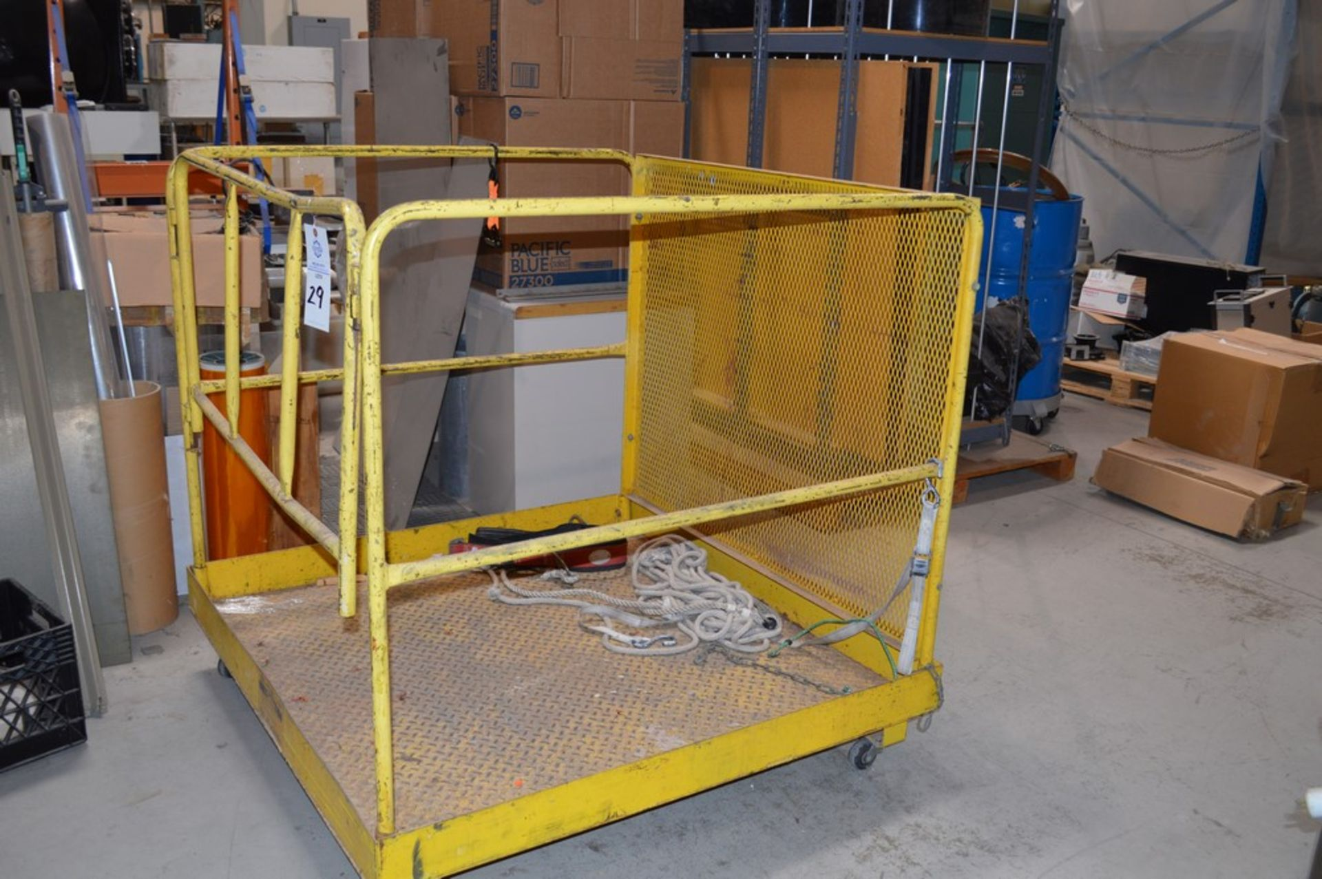 """Forklift Man Lift Attachment 48"""" x 48"""" x 42"""" Tall - Image 2 of 3"""