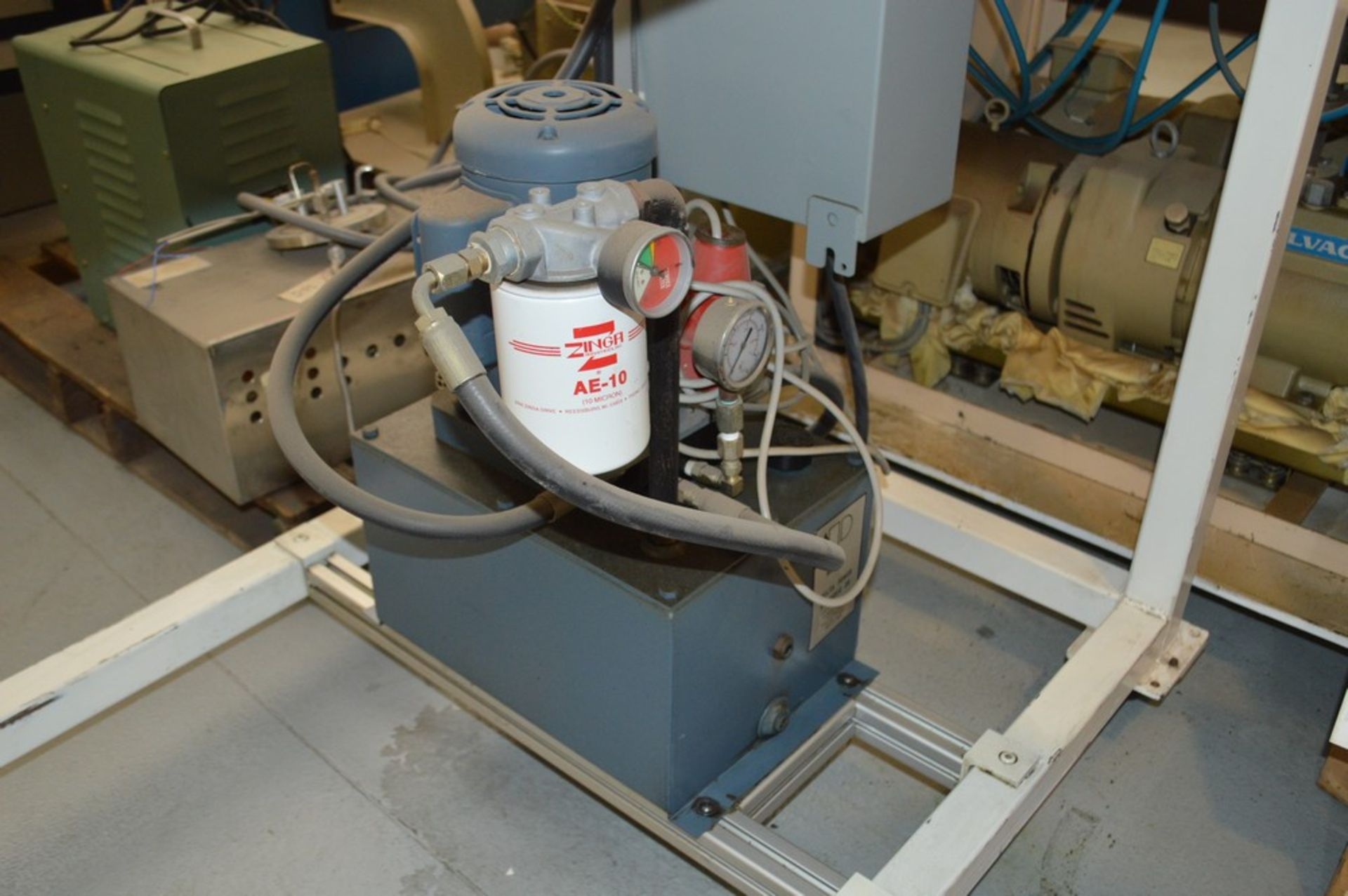 4 Post horizontal press with stand, 3000 psi, RAM speed controls - Image 4 of 8