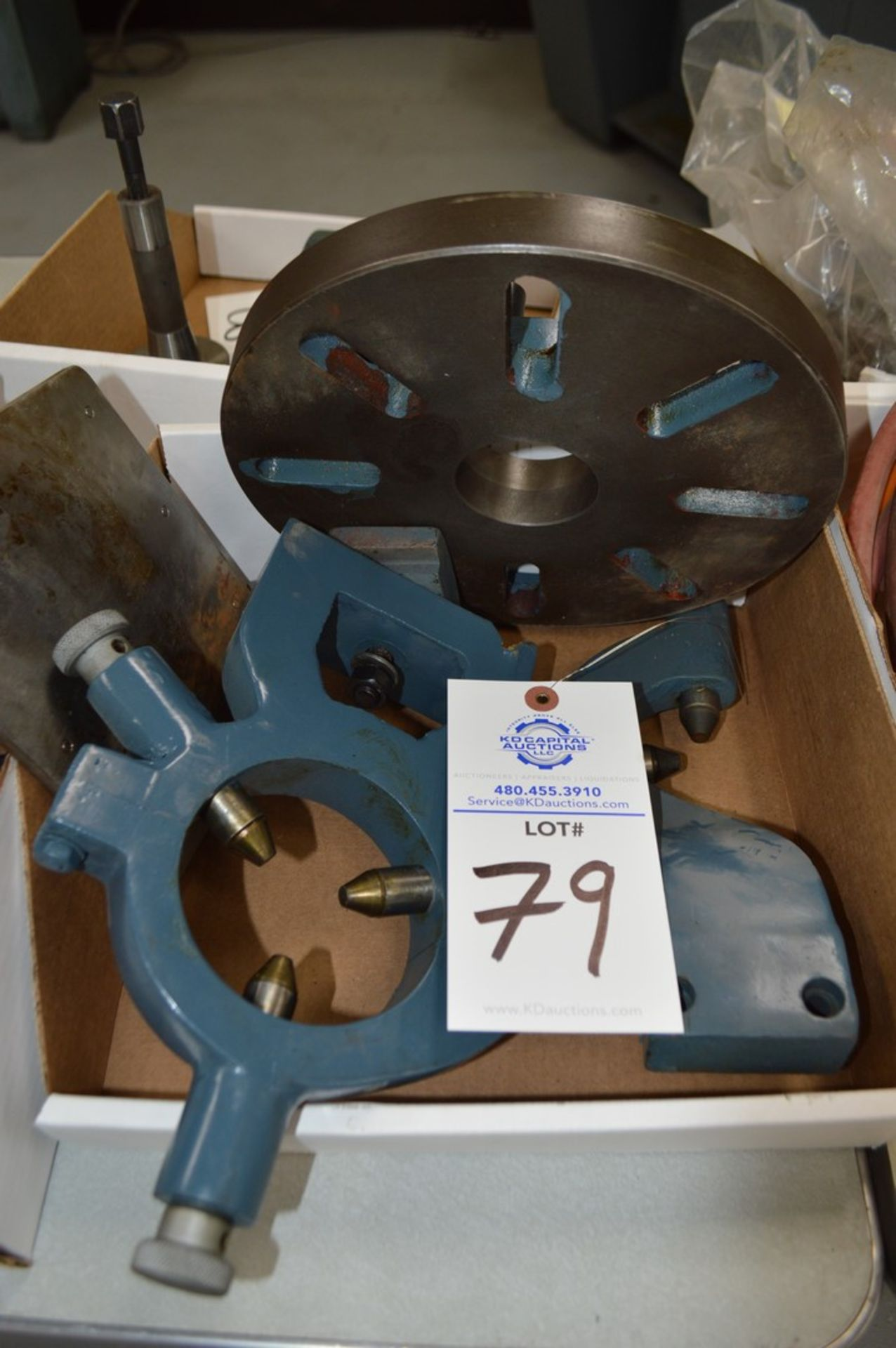 """8"""" 3 bolt lathe plate adapter, steady rest and follow rest"""