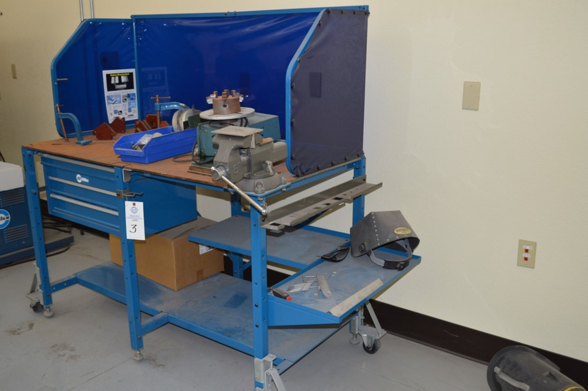 """Miller Welding Table, 3 Drawers, Jetline System not included in sale, Magnetic Hold Downs, Manual 5"""" - Image 3 of 6"""