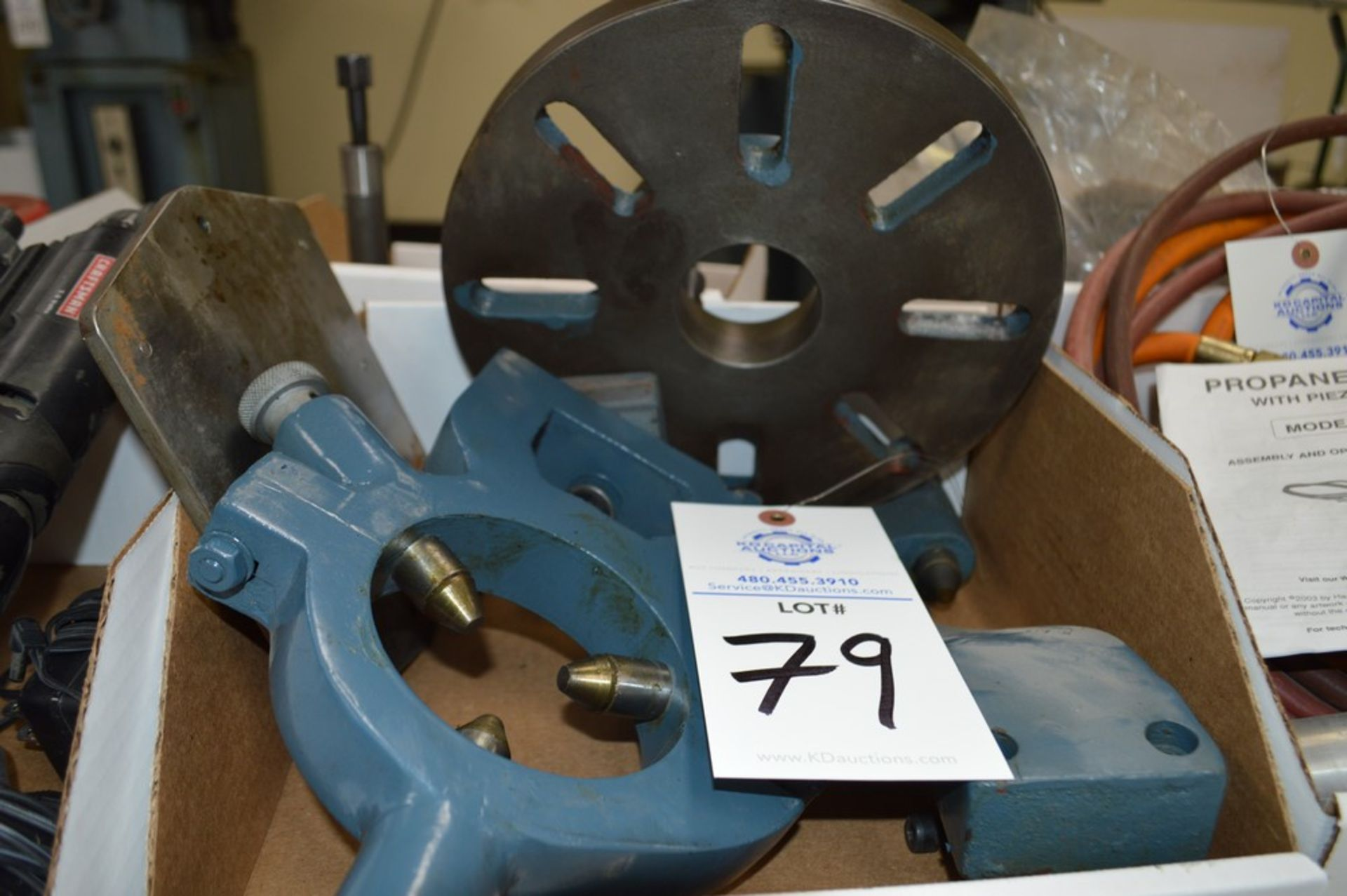 """8"""" 3 bolt lathe plate adapter, steady rest and follow rest - Image 3 of 3"""