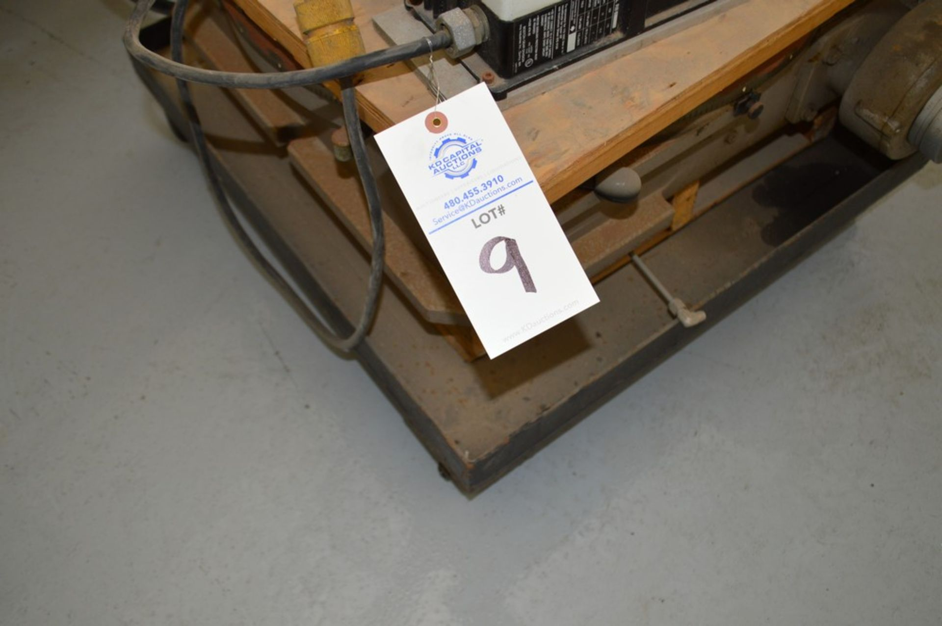 Troyke Model P25 full 4th electric rotary table with low speed gear, 1 reducer and motor speed - Image 6 of 6