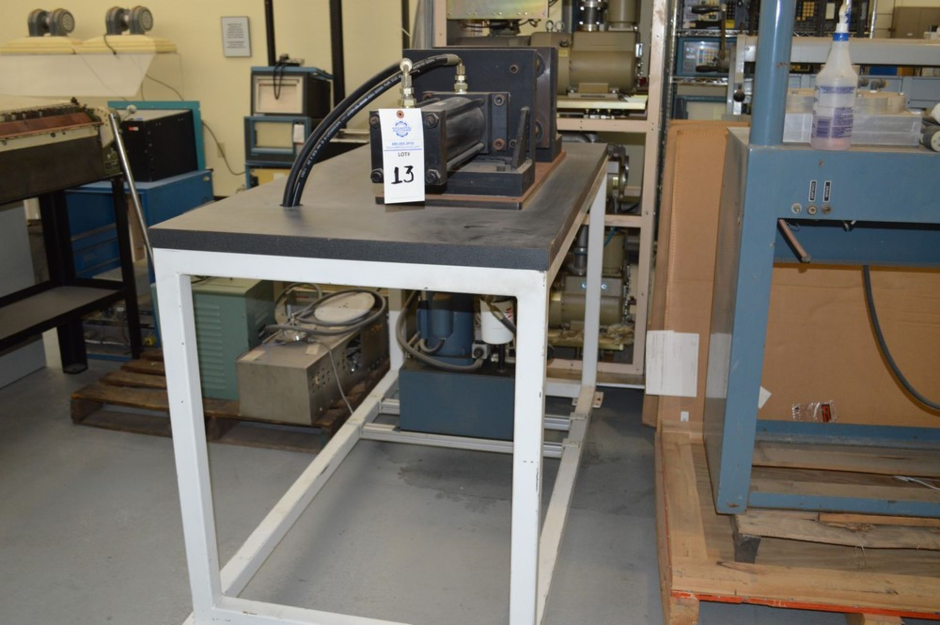 4 Post horizontal press with stand, 3000 psi, RAM speed controls