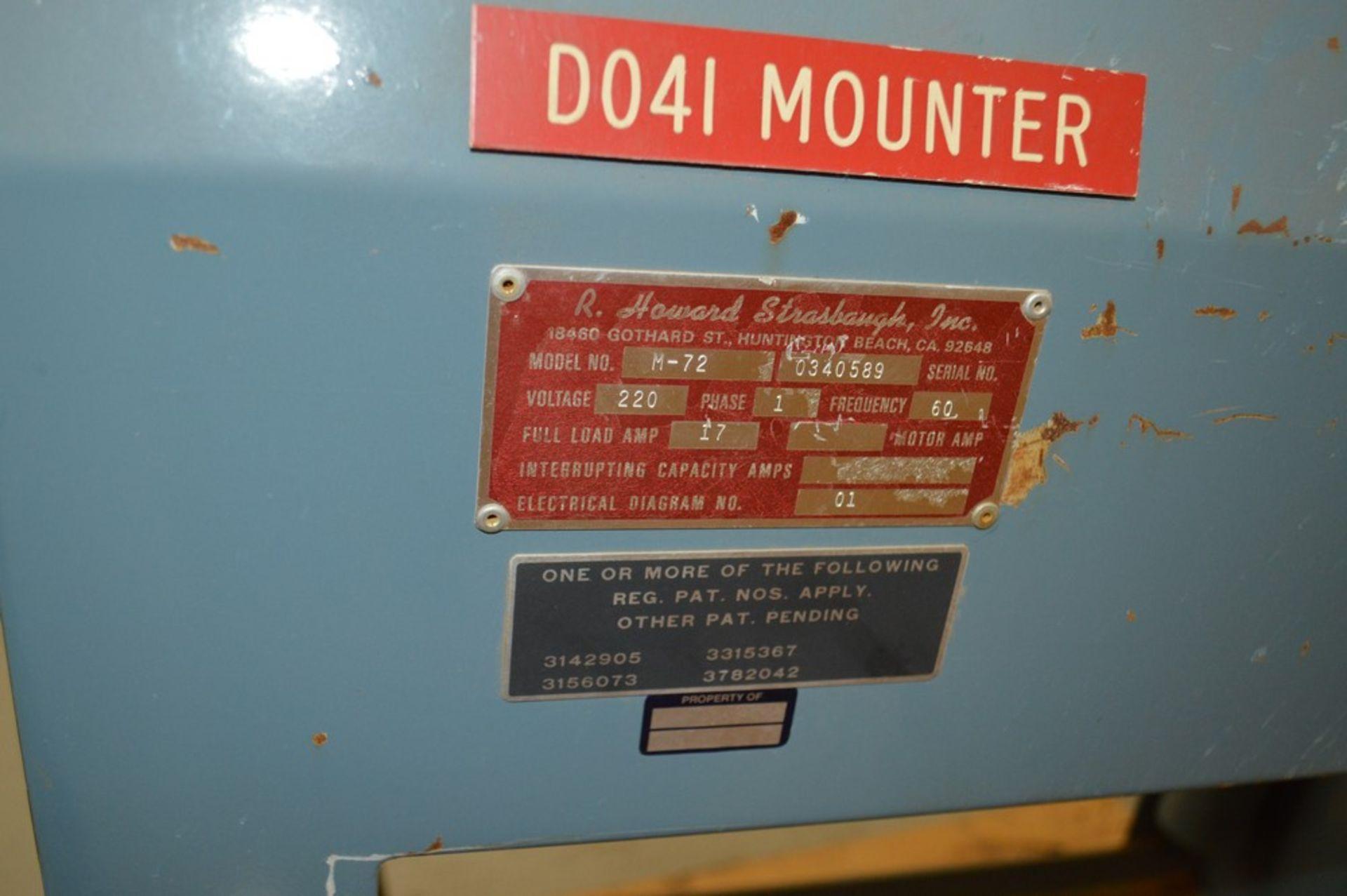 R Howard Strausbaugh, Model M-75, peunmatic press on skid. Mounting press - Image 5 of 6
