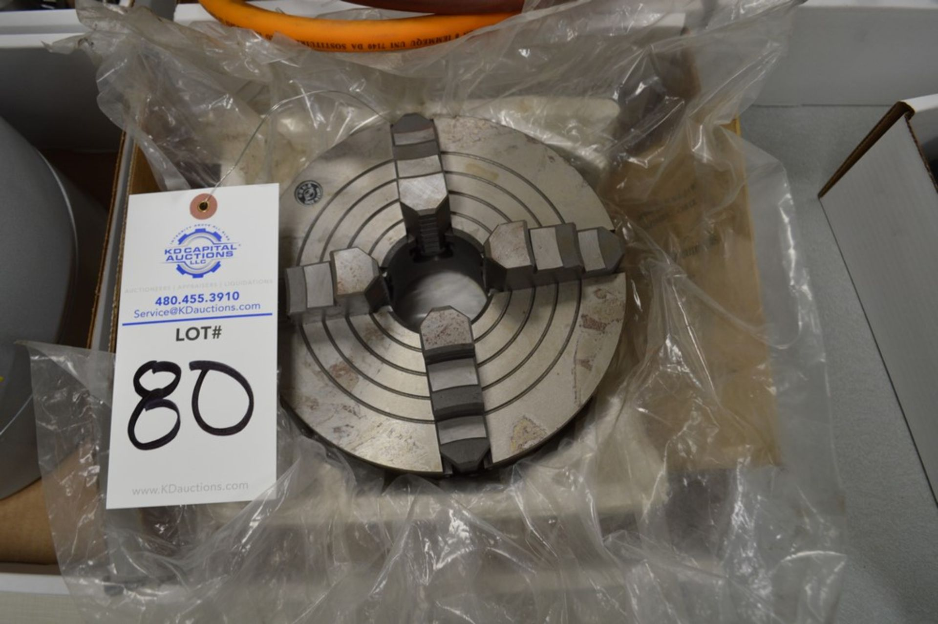"""4 Jaw 8"""" chuck with 2"""" thru bore - Image 2 of 2"""