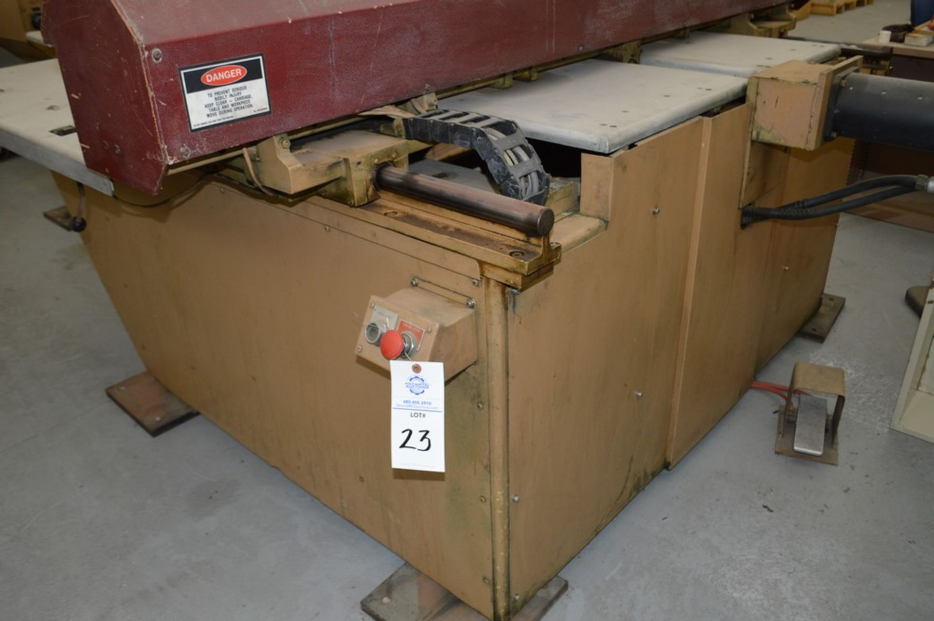 1985 Del Arco Strippit 1000 lbs punch, with auxilliary transfer table, 20 stations, blue 4 leg - Image 2 of 15