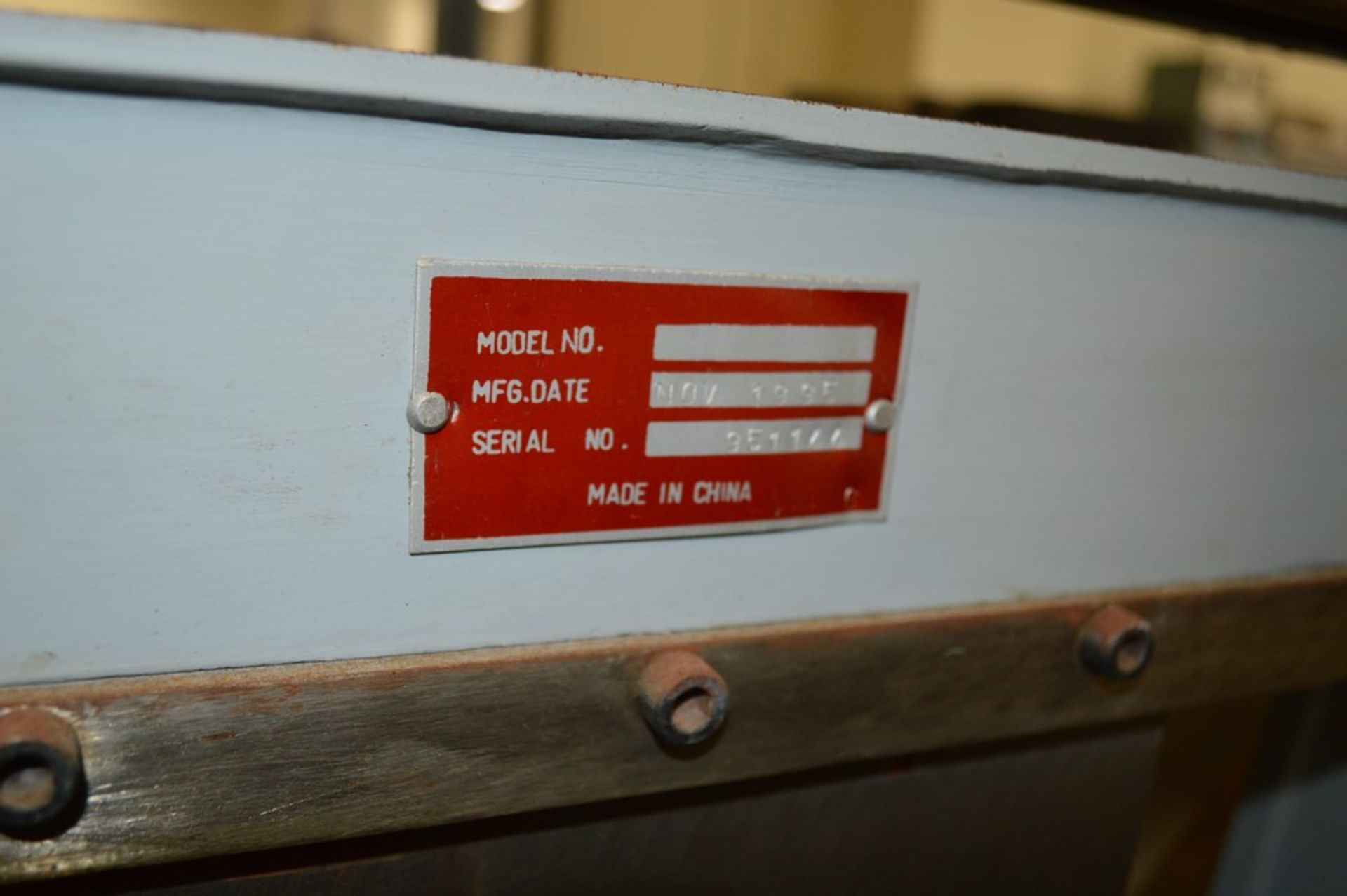 1995 Combined Manual Shear and Break black metal stand, metal rolls, (4 Each) Henrich/Pexto Model- - Image 6 of 8