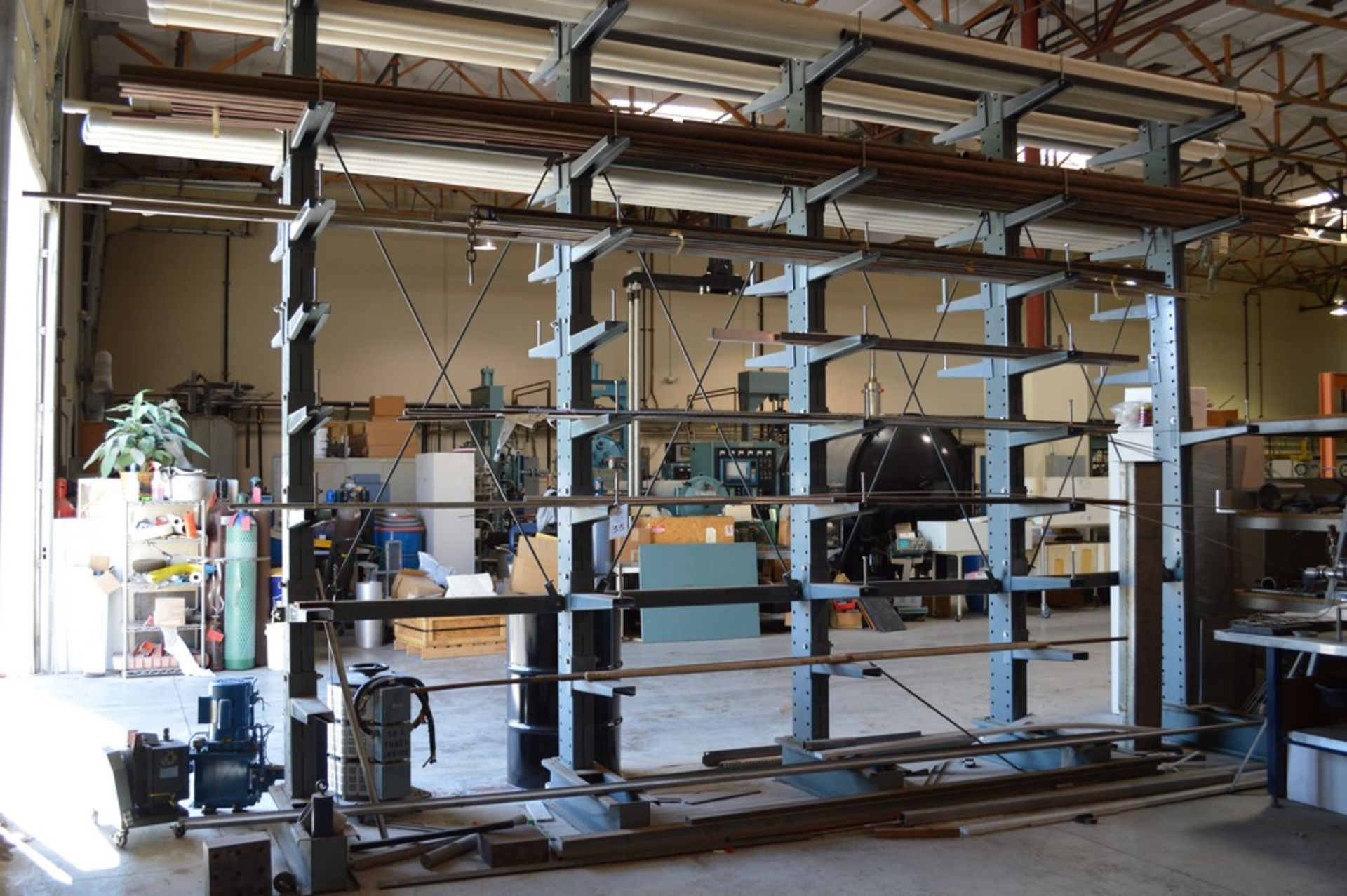 """Two Sided metal """"Gorrila"""" storage racking with all contents, copper, Stainless Steel, pvc, and more,"""
