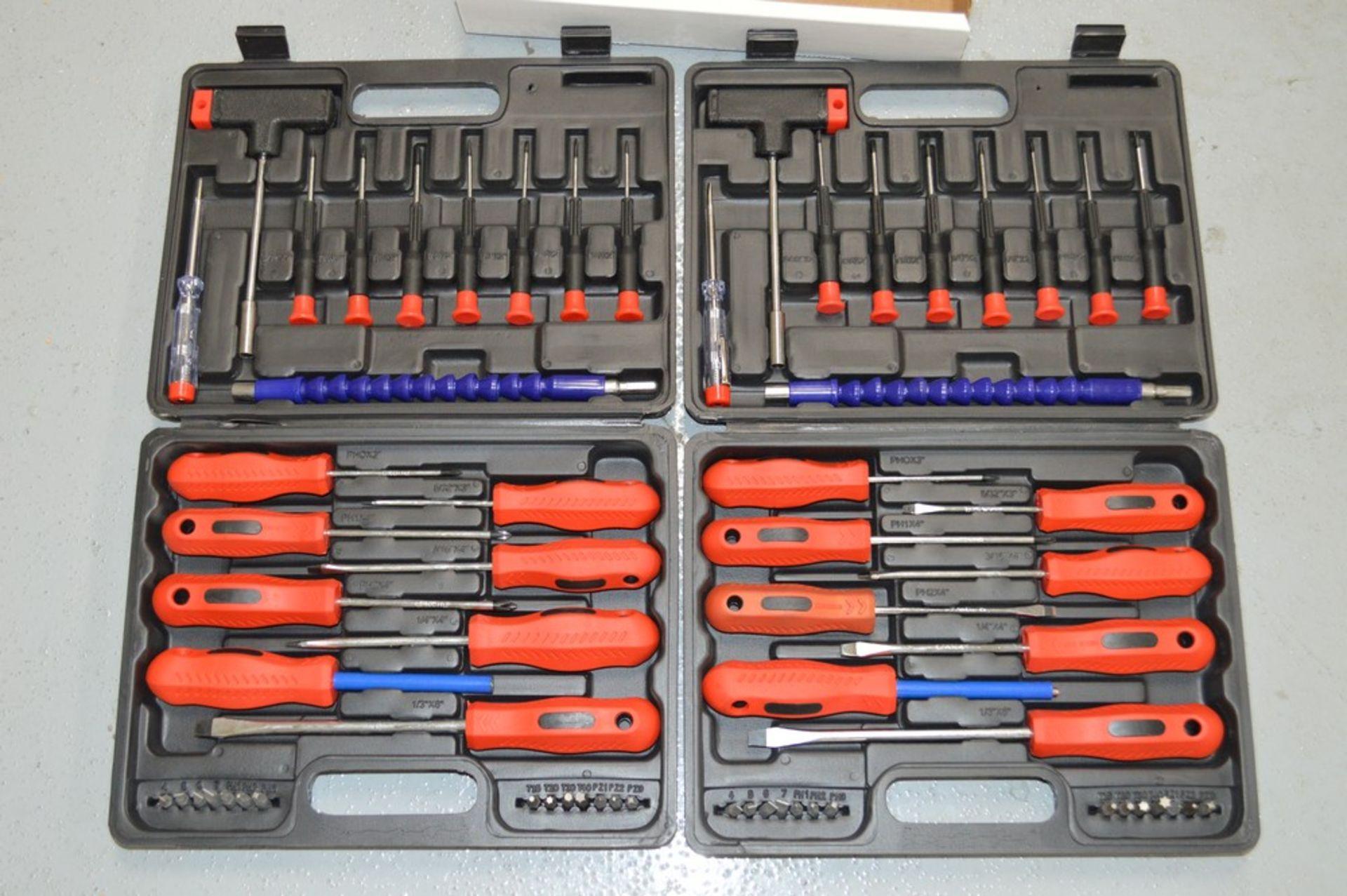 (2) screwdriver sets in hard plastic cases - Image 2 of 2