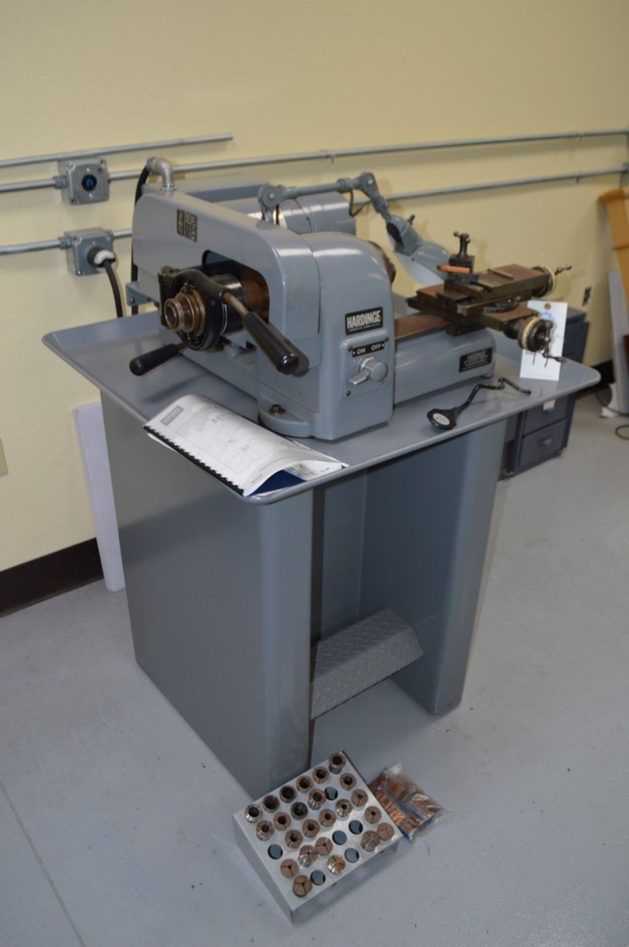 Hardinge HSL-Five Nine Super Precison Speed Lathe with collets and tooling,5c collet nose, dovetail - Image 3 of 5