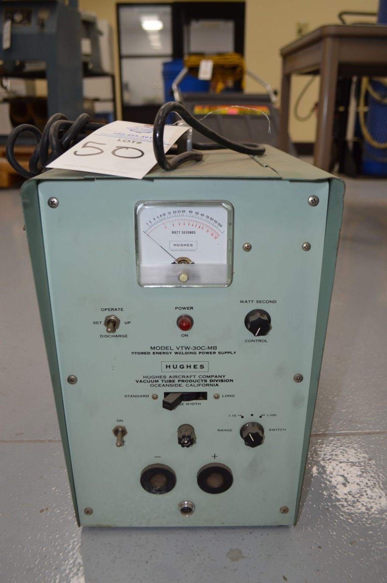Hughes Model VTW-30C-MB Capacitance discharge spot welder - Image 2 of 3