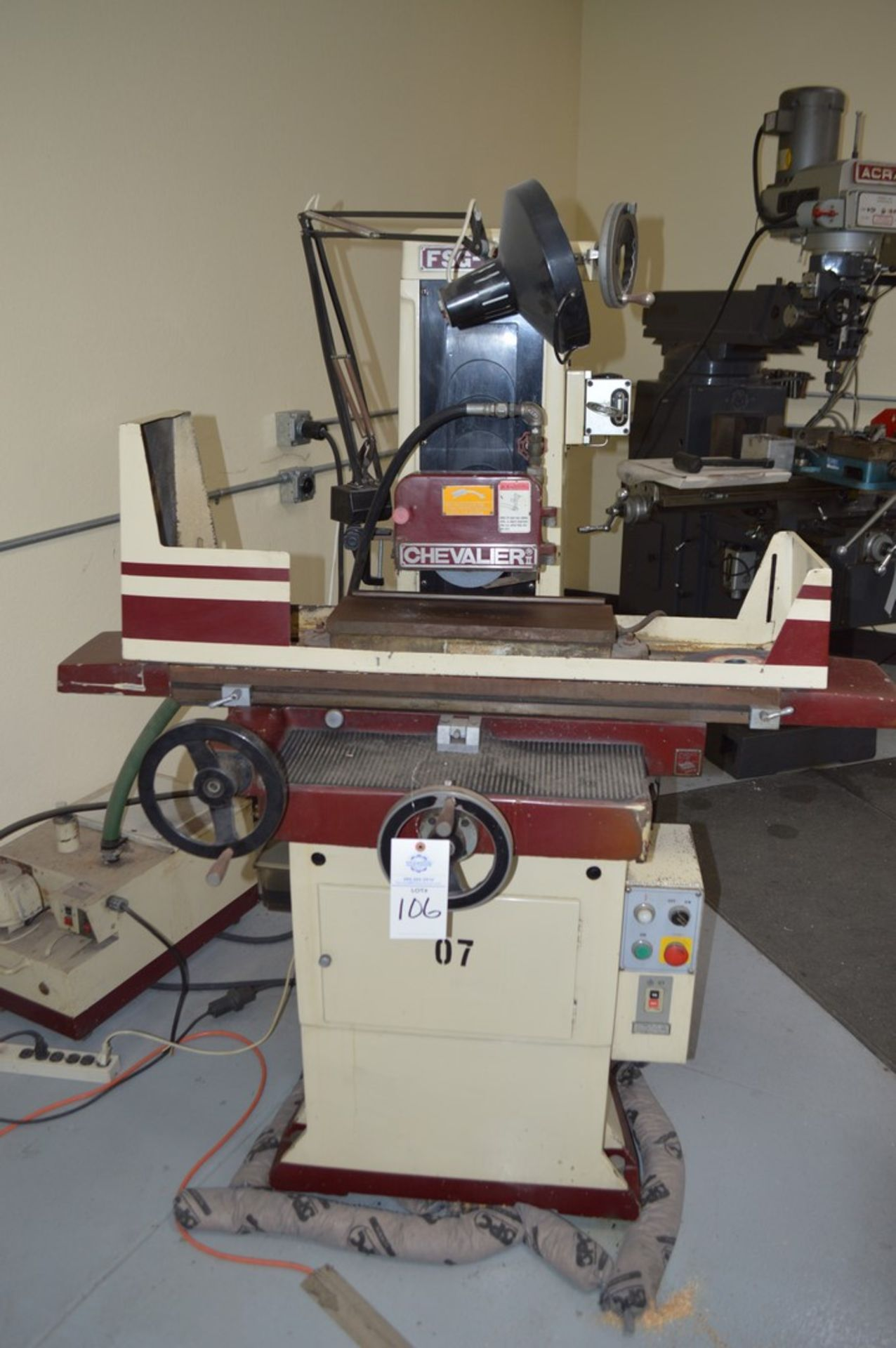 Chevalier FSG618M surface grinder with magnetic chuck, coolant and Walker control unit - Image 2 of 7
