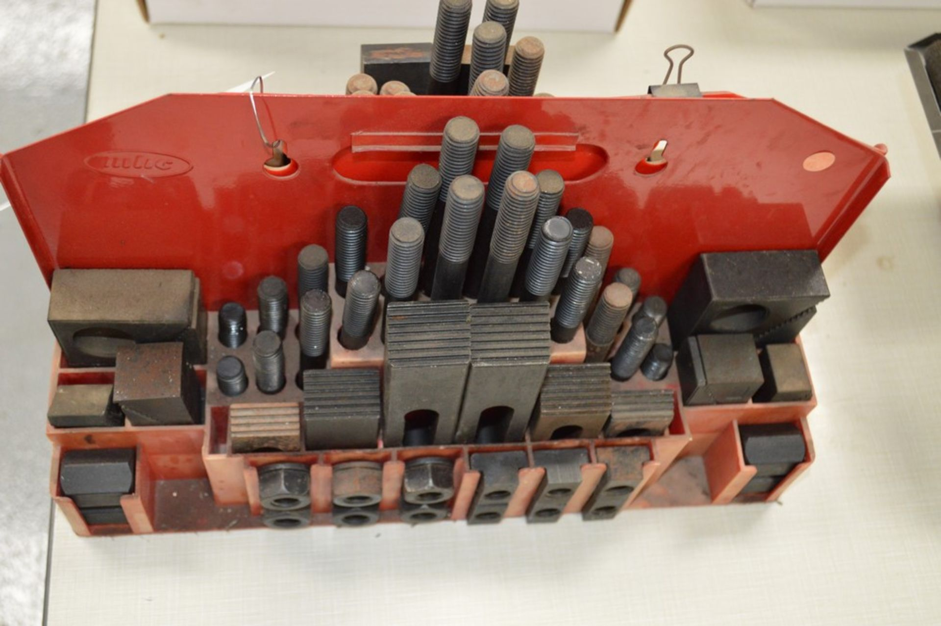(2) partial mill setup kits with red metal holders - Image 2 of 3