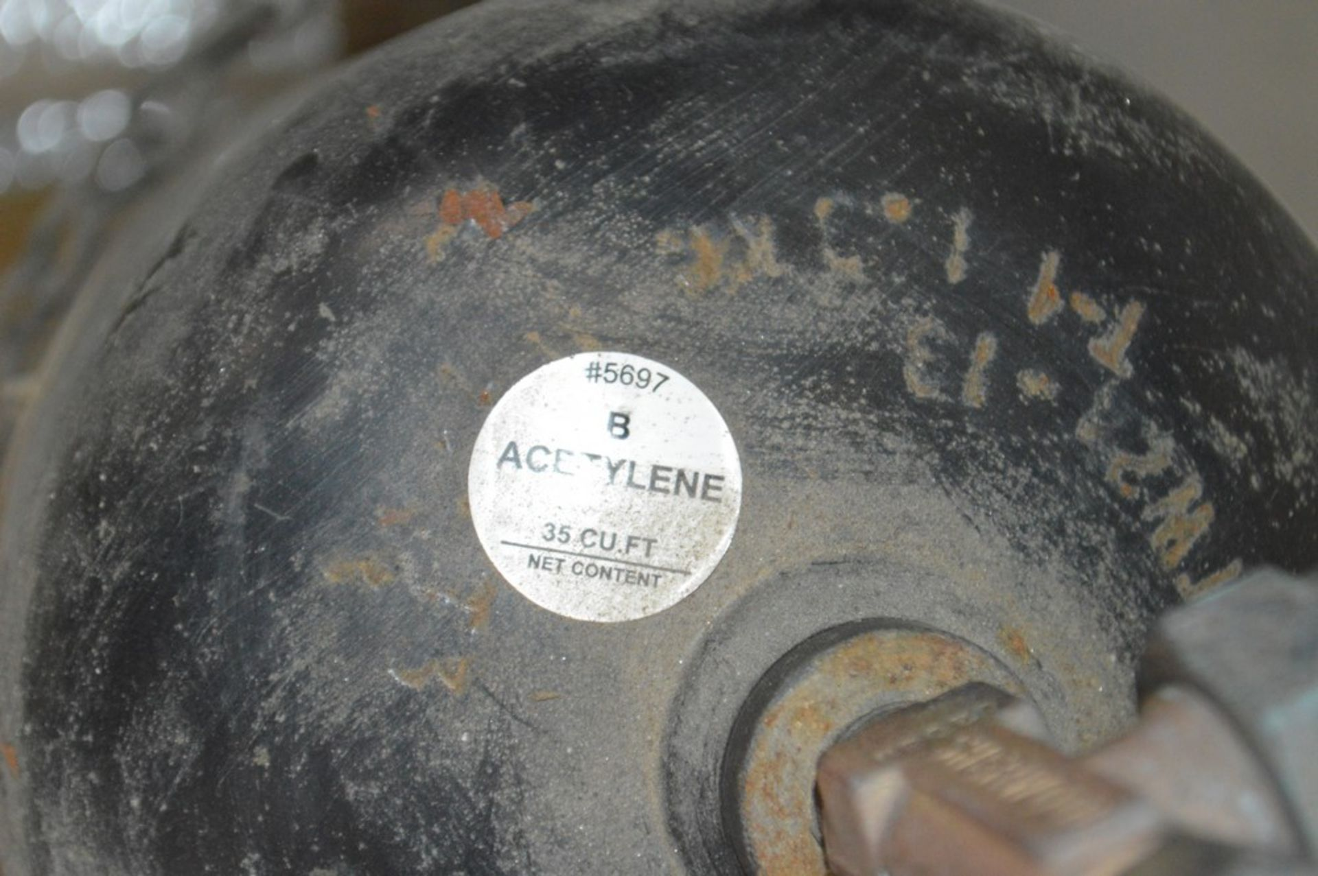 Acetylene torch on small rolling cart - Image 2 of 5