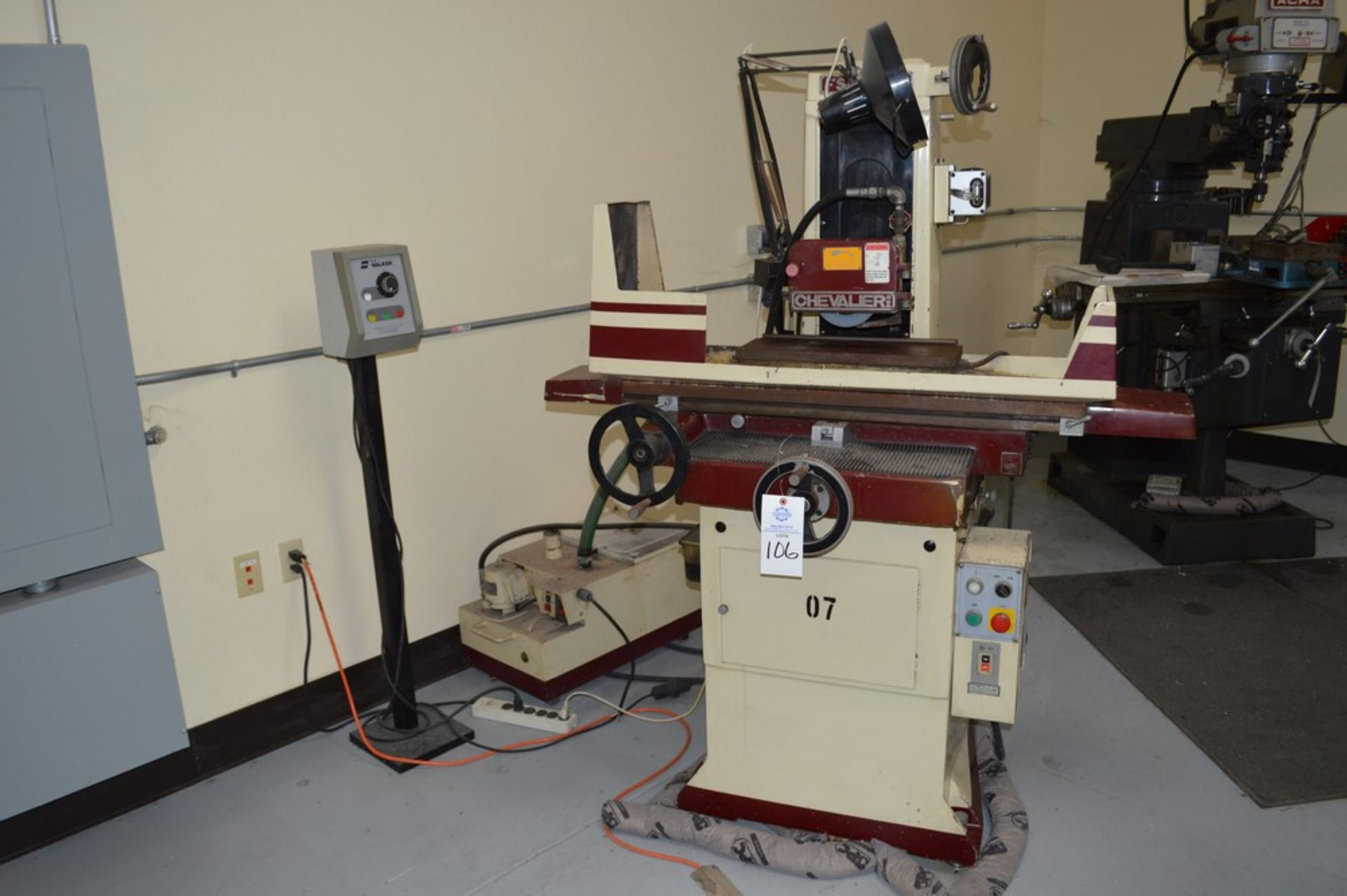 Chevalier FSG618M surface grinder with magnetic chuck, coolant and Walker control unit