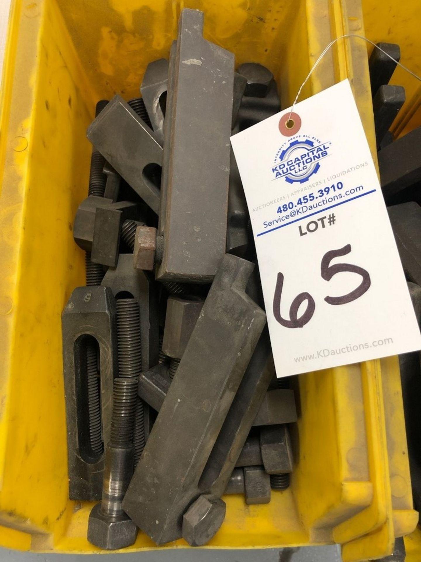 Heavy duty tie downs/lock downs (2) yellow bins - Image 2 of 3