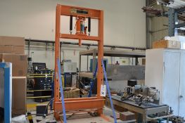Central Hydraulics 20 Ton shop press, small steel table