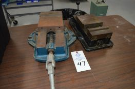 """Enco Model 425-7261 milling machine vise with another 6"""" misc milling machine vise (2 Total)"""