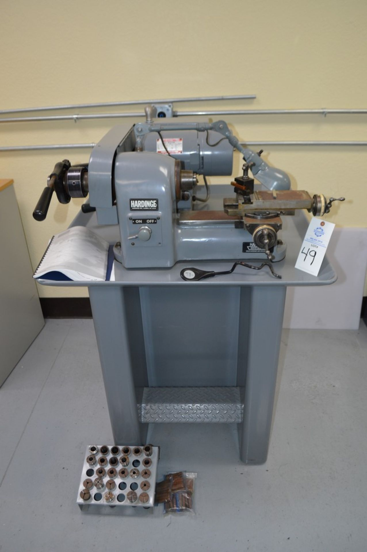 Hardinge HSL-Five Nine Super Precison Speed Lathe with collets and tooling,5c collet nose, dovetail