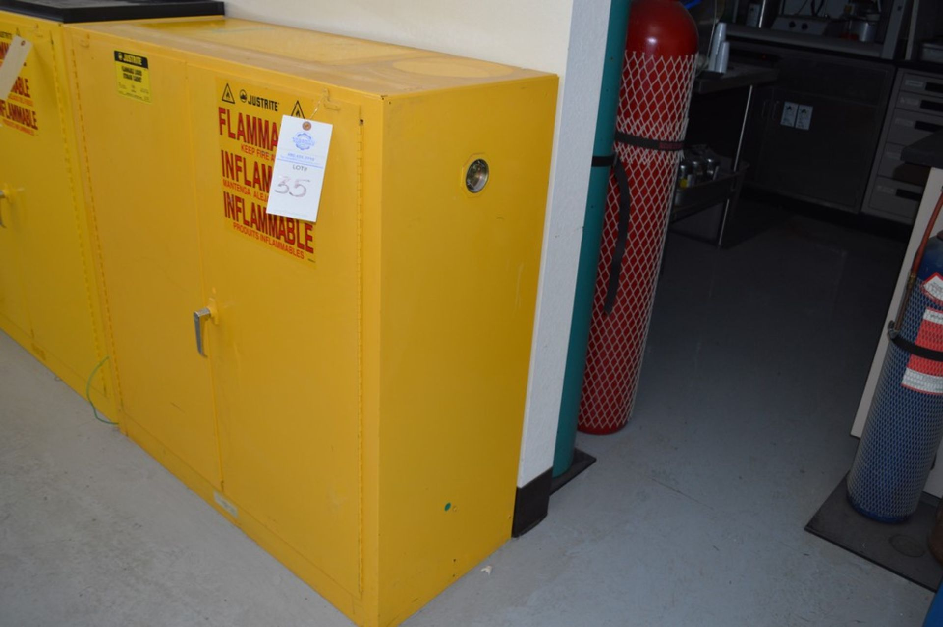 Just Rite flammable storage cabinet (no contents) 18 x 43 x 45
