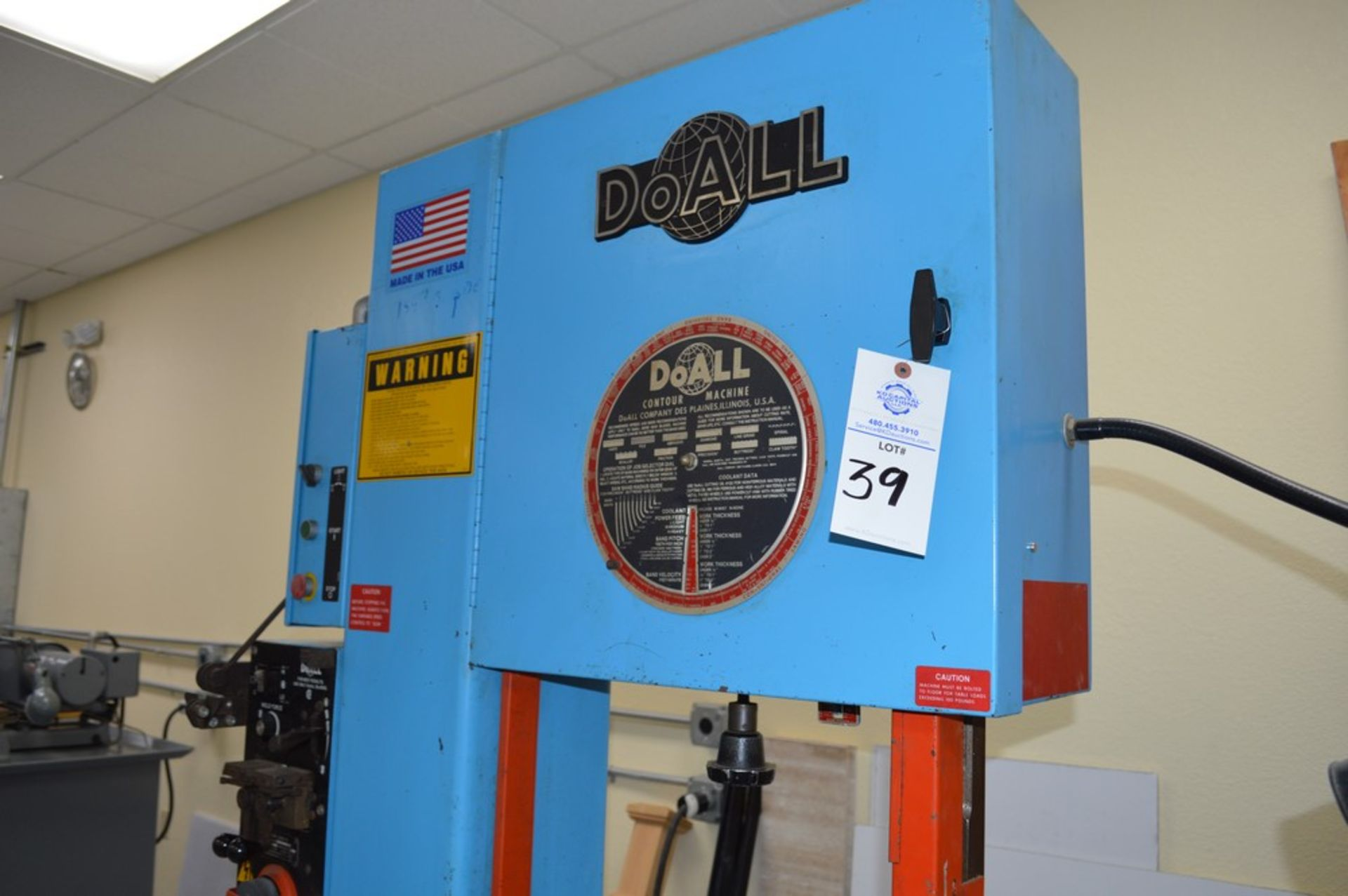 """Do-All, 2013-V, 154"""" Band, with extra bands and DBW-15 welder - Image 2 of 7"""