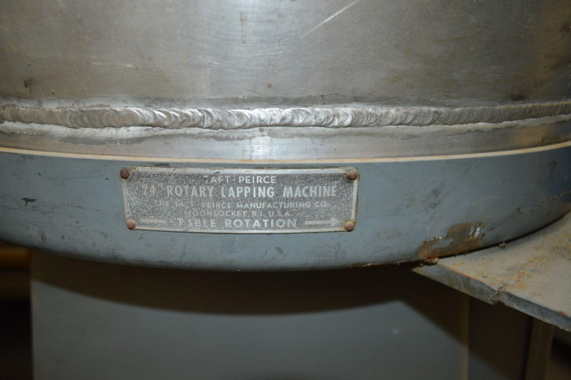 "Taft-Peirce 24"" Rotary Lapping machine S/N 217 - Image 3 of 4"