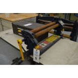 """Pexto Model 383D, 3 roll Manual rolls, with 4 """"C"""" damps with table, Brown Tool Box Not Included"""