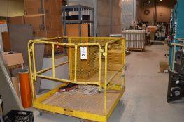 """Forklift Man Lift Attachment 48"""" x 48"""" x 42"""" Tall"""