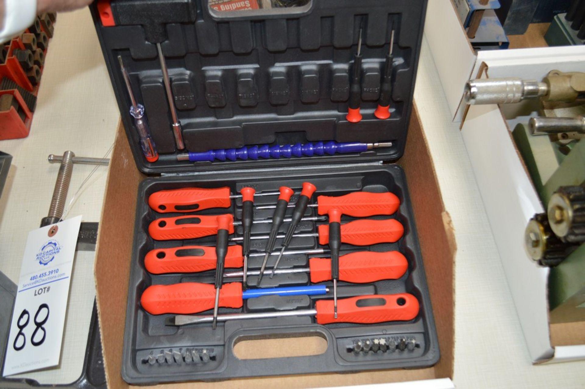 "Hitachi 9.6 Volt cordless drill, 6"" C clamp, screwdriver set - Image 3 of 4"
