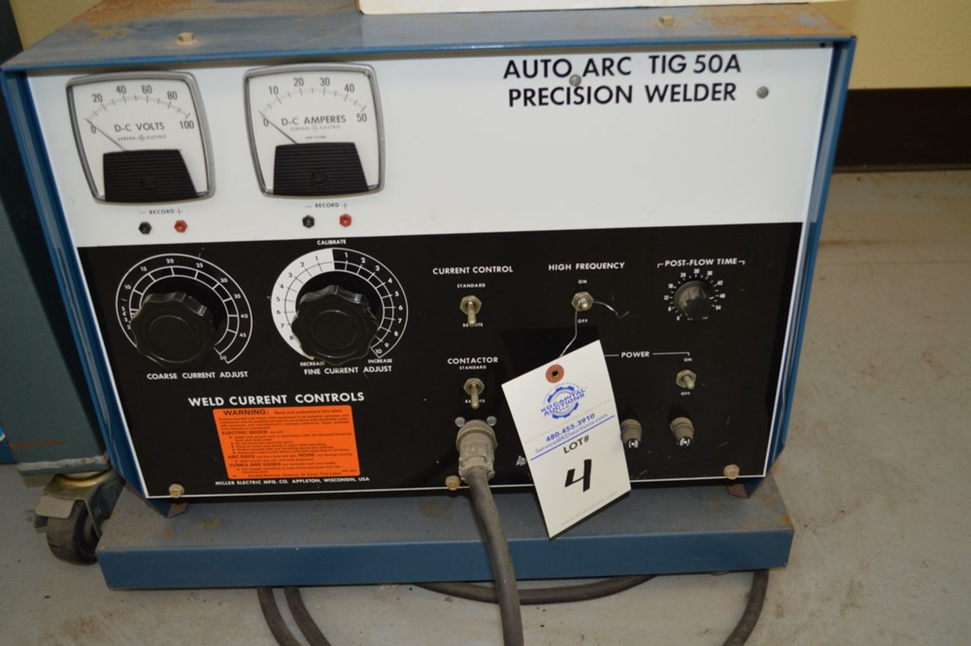 Miller Auto Arc Tig 50A With Tig Legacy 25' Torch Package - Image 2 of 4