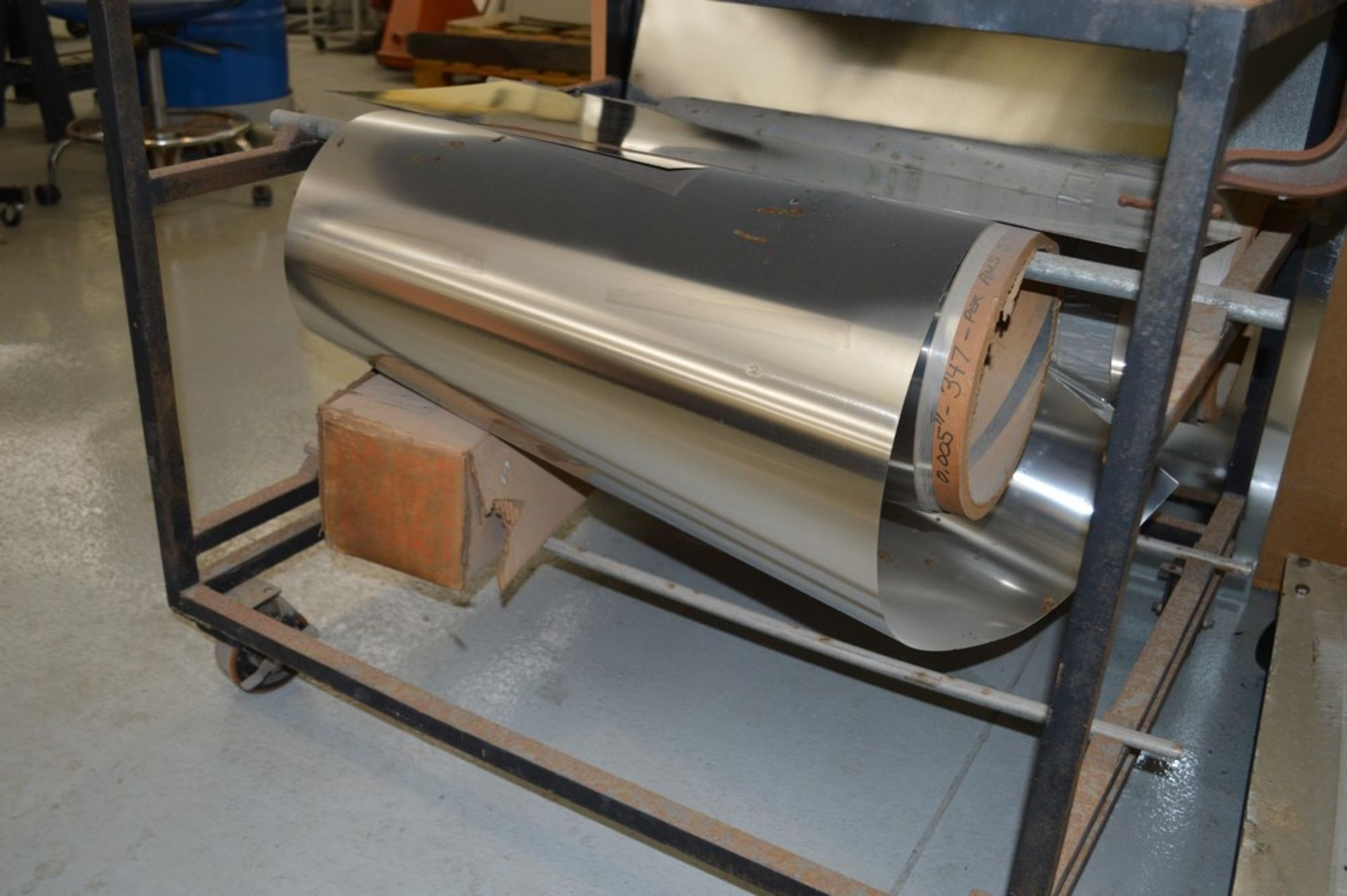 1995 Combined Manual Shear and Break black metal stand, metal rolls, (4 Each) Henrich/Pexto Model- - Image 5 of 8