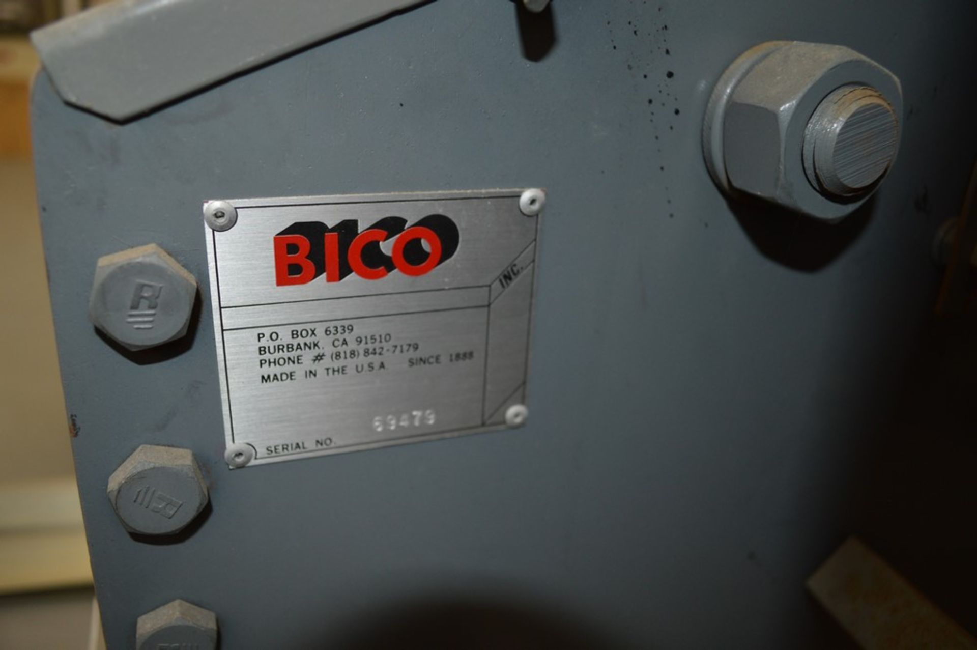 "BICO Rock/Ore Crusher ""Chipmunkcrusher Model 4"", 3 HP, 9"" x 3 1/2"" Opening S/N 69479 - Image 4 of 8"