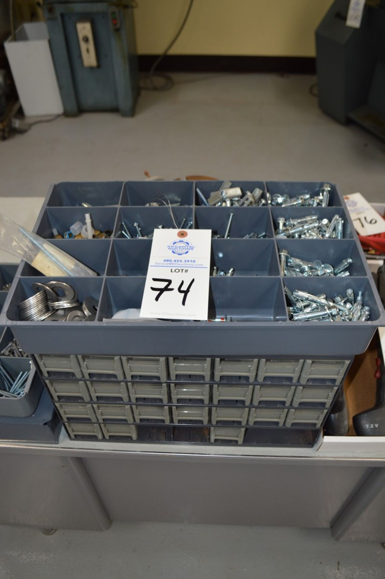 Assortment of fasteners and lockers, T-nuts and more with small gray 24 drawer chest - Image 2 of 4