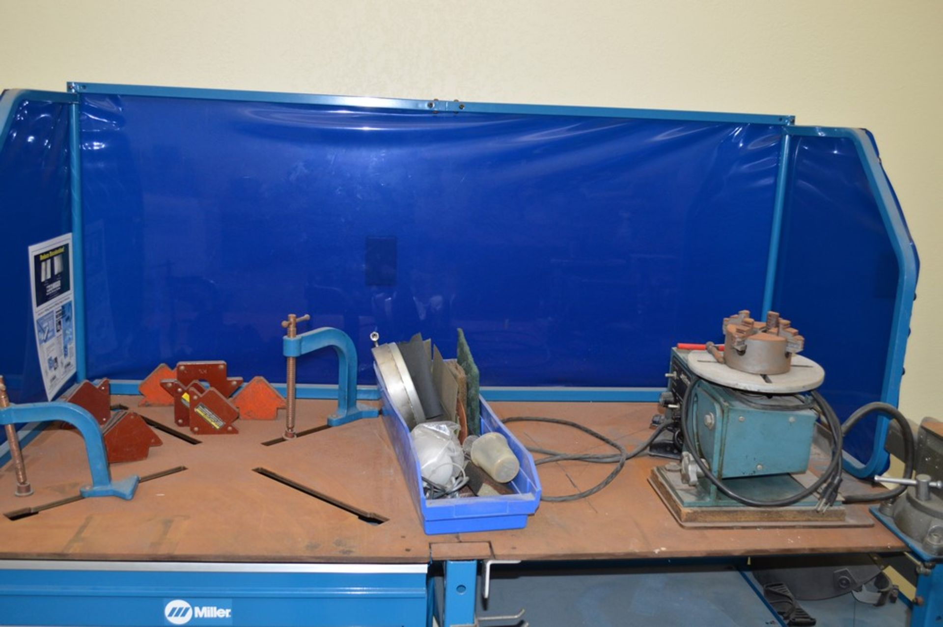 """Miller Welding Table, 3 Drawers, Jetline System not included in sale, Magnetic Hold Downs, Manual 5"""" - Image 5 of 6"""