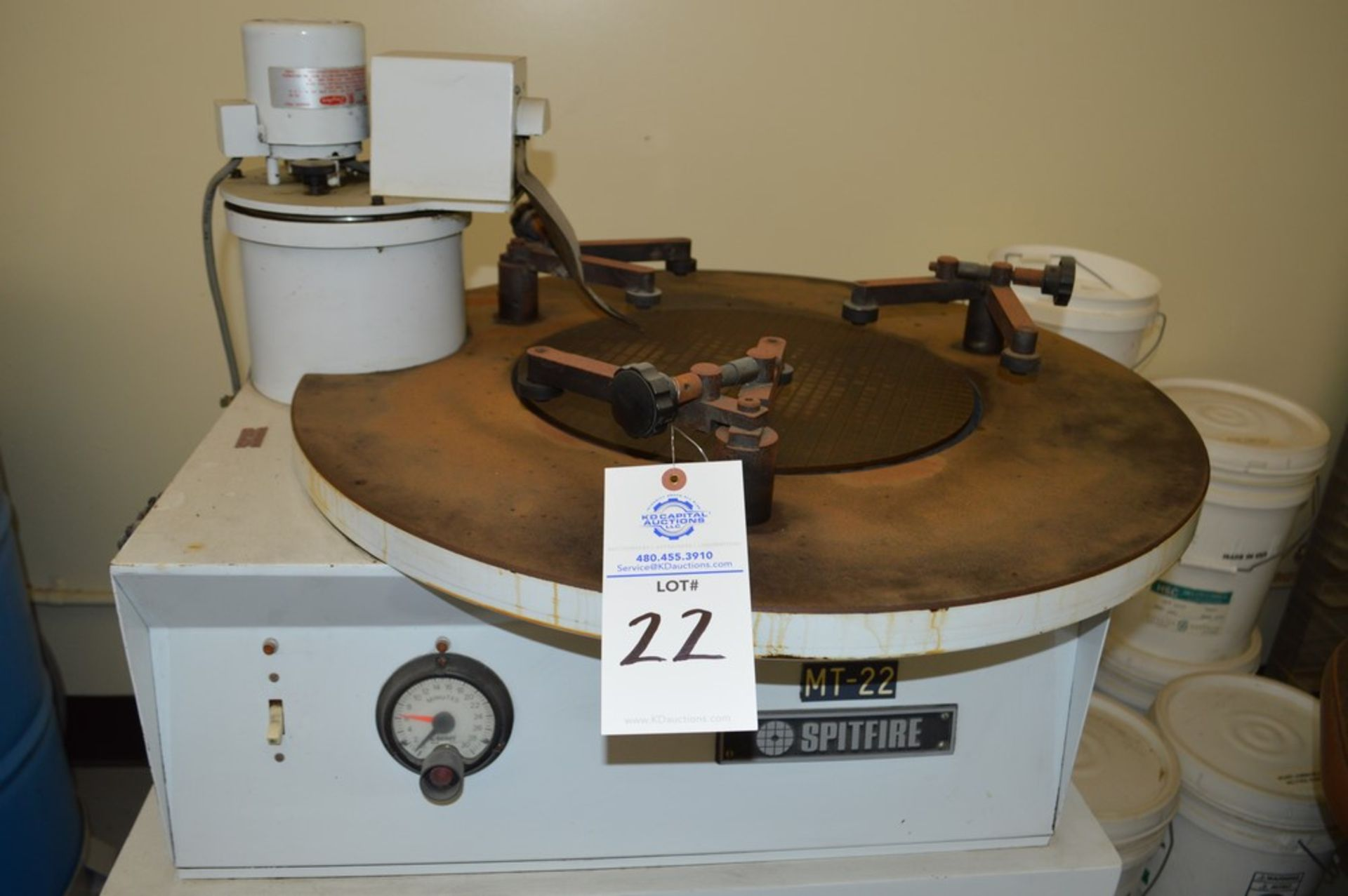 Spitfire MT-22, Some spare parts, on metal stand - Image 2 of 4