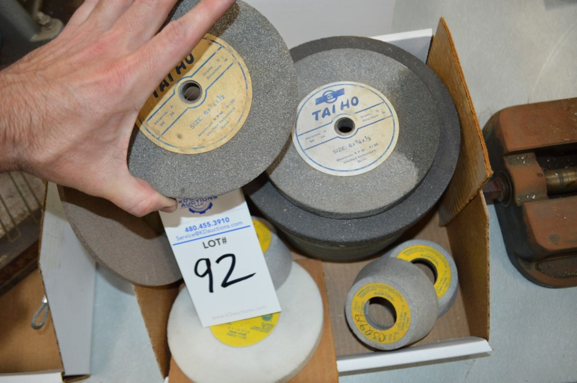 """Assortment of grinding wheels and attachments, 6.5"""" thru 8"""" wheels - Image 3 of 3"""