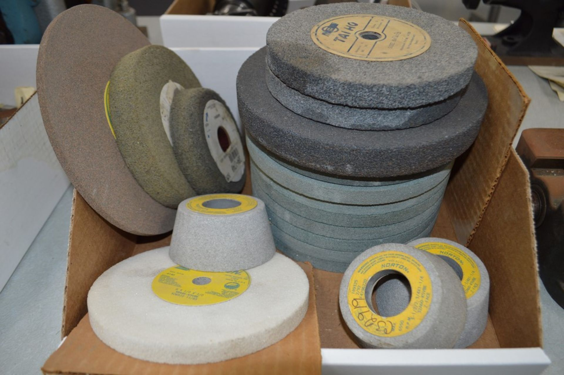 """Assortment of grinding wheels and attachments, 6.5"""" thru 8"""" wheels - Image 2 of 3"""