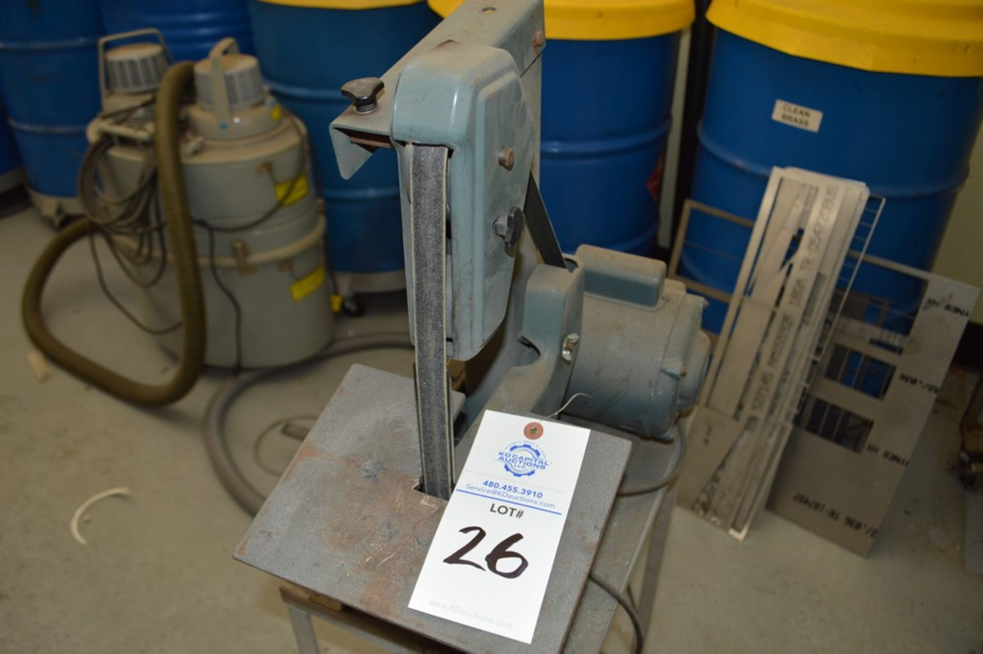 """1"""" x 8"""" Belt and Disc Sander on small metal rolling stand - Image 2 of 5"""