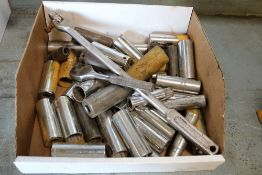 Lot of large sockets with socket wrench