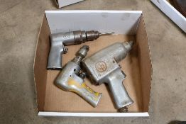 (2) pnuematic drills and pnuematic socket wrenches, no air attachments
