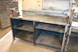 5 Tier Heavy Duty Steel Work Station With Wilton 6'' table vice